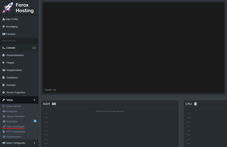 Minecraft server panel