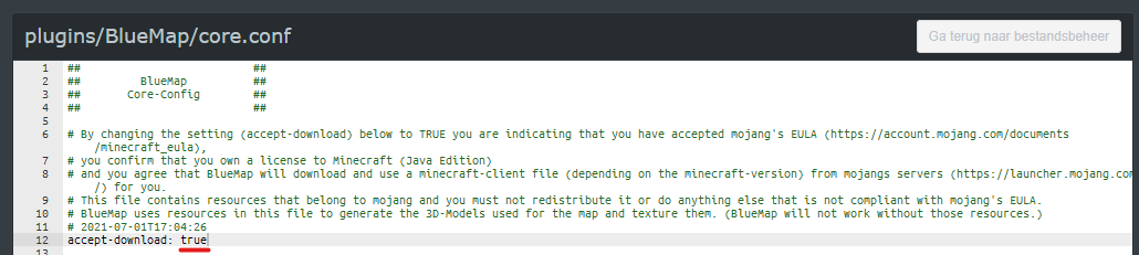 BlueMap core.conf bestand
